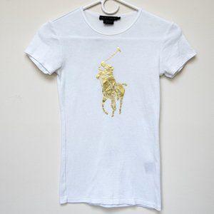 Ralph Lauren Womens Big Pony Graphic Tee XS